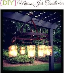 Outdoor Chandelier Diy Diy Outdoor Chandelier Jar Candle Outdoor Chandel Diy