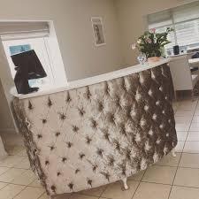 Reception Desk Ebay Large Curved Reception Desk With Crushed Velvet Padded Front