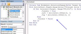 worksheet shapes range move a shape vba