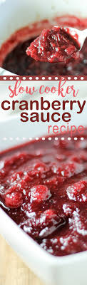 the best cranberry sauce recipe in the cooker