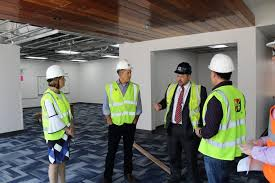 high school project hudson schools congressman duffy tours hhs construction talks about school safety