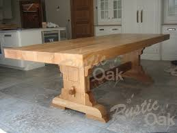 Refectory Dining Tables Square Edged Refectory Dining Table Rustic Oak