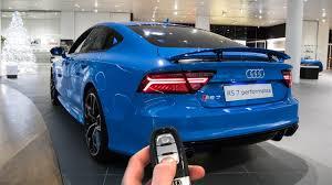 audi rs7 performance blue audi exclusive in depth interior