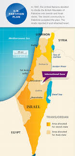 un map maps united nations partition plan aipac org