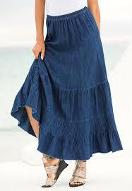 plus size provencial denim skirt plus size dresses u0026 skirts