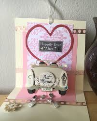 just married cards wedding card just married newlyweds pop up wedding card 3d