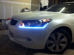added 20 autozone led strips to base of headlights led strip