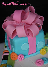 baby gender reveal cake gift rose bakes