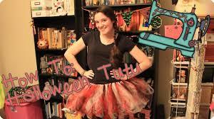 how to make a diy tutu no sew halloween costume idea youtube