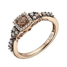 Chocolate Diamond Wedding Rings by Ernest Jones Le Vian 14ct Strawberry Gold 51 Point Chocolate