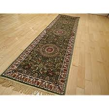 amazon com silk persian style area rug long hallway and stair