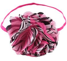 satin headbands satin and lace flower headbands hot pink zebra print bows