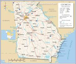 Map Of North Carolina Cities Reference Map Of Georgia State Usa Nations Online Project