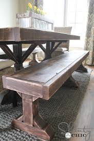 murphy table and benches diy benches for my dining table shanty 2 chic