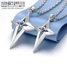 star sterling silver necklace images Blue sweet couple necklaces star cross necklaces for women and jpg
