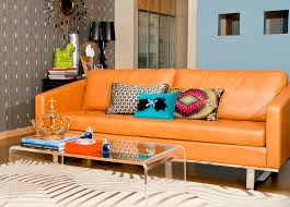 burnt orange coffee table phoenix burnt orange sofa living room modern with area rug