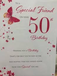 50th Birthday Cards For Special Friend 50th Birthday Card Ebay