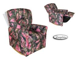 kids rocker recliner contemporary true timber pink camo quick ship