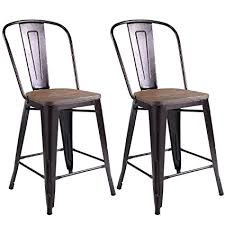 Style Dining Chairs Costway Copper Set Of 2 Tolix Style Metal Dining Chairs