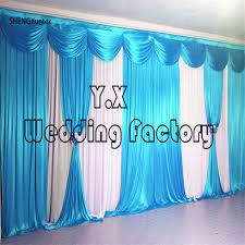 wedding backdrop curtains aliexpress buy free shipping white wedding backdrop curtains