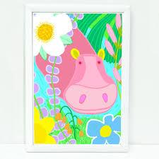 Prints For Kids Rooms whimsical hippo art print for kids sophisticated art for kids
