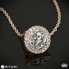 necklace pendant setting images Ritani bella vita halo diamond pendant 2195 jpg