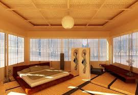 bedroom cozy japanese bedroom design with king size bed and