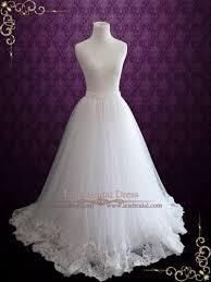 hem wedding dress a line wedding dress tulle skirt with lace hem cyra ieie bridal
