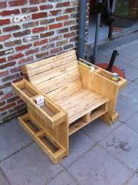 Outdoor Furniture Made From Wood Pallets Self Made Chair Made Completely From Old Pallets Recycle Upcycle