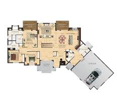 two story house plan with walkout basement walkout basement
