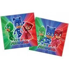pj masks party paper napkins pack 20 pjm 886335