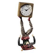 Toscano Home Decor Shop Design Toscano Juggling Time Harlequin Jester Analog Square