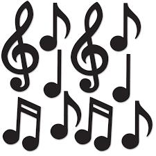 bulk party supplies 24ct beistle mini musical notes silhouettes bulk party supplies