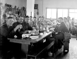 file members of the special night squad in the dining room at