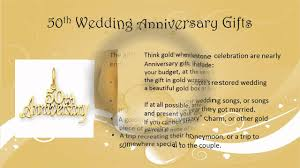 50 wedding anniversary 50th wedding anniversary gift ideas