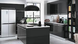 meuble de cuisine noir cuisine noir et blanc laqu stunning cuisine noir laque