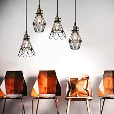Wire Cage Light Kaye Metal Wire Cage Industrial Retro Pendant Light U2013 Tudo And Co