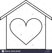 house love heart beauitful card outline stock vector art