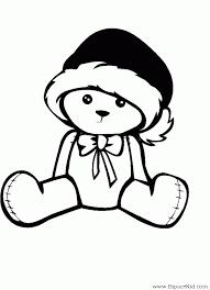 Coloriage Petit ourson de Noël à imprimer dans les coloriages Divers