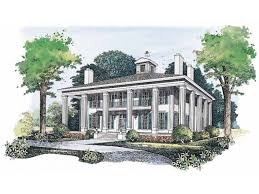 eplans plantation house plan southern colonial warmth 3754