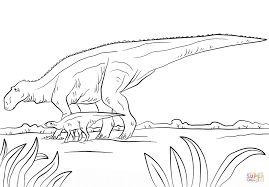 maiasaura dino from cretaceous period coloring page free