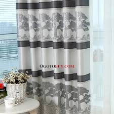 Window Curtains Sale Grey Tree Jacquard Poly Cotton Blend Country Window Curtains On