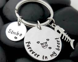 in memory of keychains in memory of cat etsy