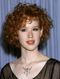 short naturally curly bob hairstyles with bangs for thin red