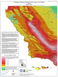 Washington State Earthquake Map by California Seismic Safety Commission
