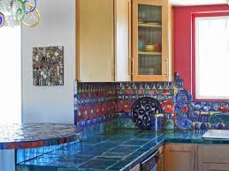 kitchen charm colorful kitchen set design ideas with blue wall