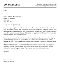 perfect sample of cover letter for administrative position 36 on