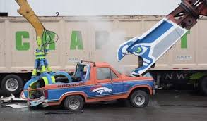 see it seattle recycling plant demolishes ford bronco for super