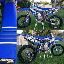 custom motocross bikes yamaha yz450f tractionmx custom gripper seat cover moto dirtbike