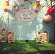 wedding backdrop graphic creative clutters silke widjaksono